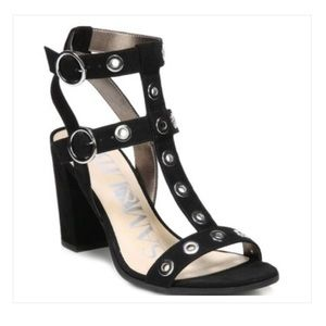 Sam & Libby Evita Black Block Heel Sandal